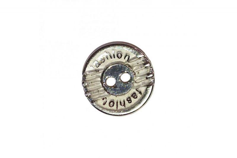 Пуговица рубашечная №K281-2 никель