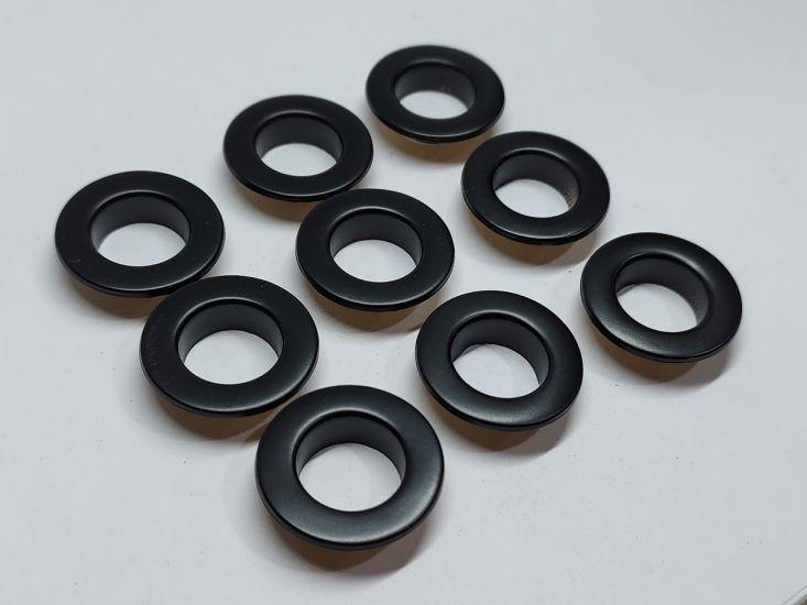 Люверсы 10 мм черный НЕРЖ (1000 штук)